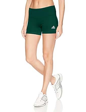 adidas Women's Volleyball Four-Inch Short Tights, Dark Green, Small