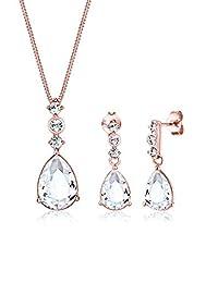 Elli PREMIUM 女士珠宝套装银925纯银水晶45cm 091195151645cm 玫瑰金