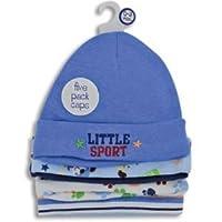 5 男宝宝运动帽套装,适合 3-6 个月