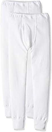 Gunze 郡是 男童 緊身褲 溫暖厚實 棉100% 2件裝 白色 110