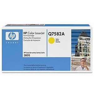 """中央机关定点采购单位 买的安心用的放心,""""有任何质量问题我们负责更换新品"""" 惠普 HP 原装正品 Q7582A黄色硒鼓 墨盒 适用于惠普HP ColorLaserjet3800N,ColorLaserjet3800dn,ColorLaserJet3800彩色激光机 请认准添彩盛业票据 严防假冒"""
