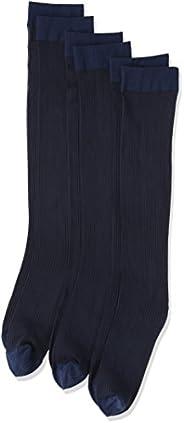 (厚木)ATSUGI 男袜 【日本制造】 日常商务型 条纹图案 高筒袜 〈3双装〉