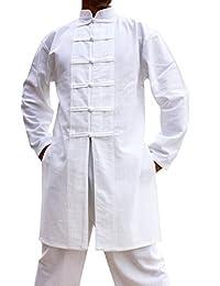 Svenine 中国风格手工棉夹克长款功夫衬衫