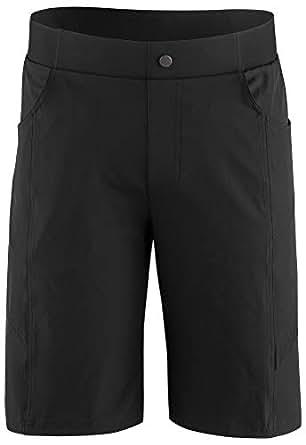 Louis Garneau 男式 Range 2 自行车短裤,黑色,XL 码