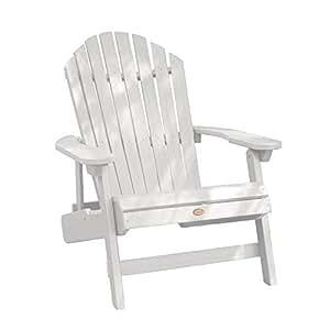 highwood Hamilton 折叠和斜倚艾迪龙打卡椅子,特大号, whitewash 白色 King
