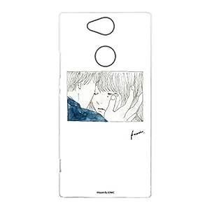 卡丽 壳 透明 硬质 印刷 杯子 智能手机壳 对应全部机型 カップルA 2_ Xperia XA2 H3123