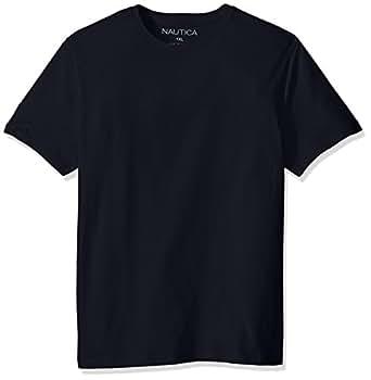Nautica 男式短袖纯色圆领 T 恤  海蓝色 Small