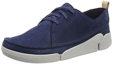 Clarks 女士 Tri Clara 德比鞋 蓝色(*蓝粒面皮革) 35.5 EU