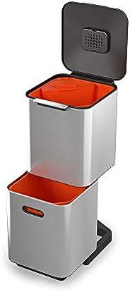 Joseph Joseph 不锈钢分类垃圾桶 亮灰色 40L/60L