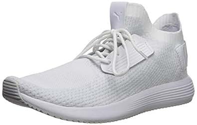 PUMA 男士 Uprise 针织运动鞋 Puma 白灰色紫罗兰 7.5