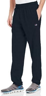 Champion 男士底部收口轻质平纹针织运动裤