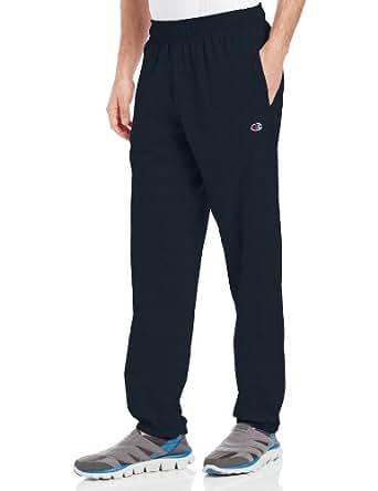 Champion 男士 底部收口轻质针织运动长裤,海军蓝,Small