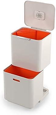 Joseph Joseph Totem Max 60 智能垃圾桶 废物分类系统 带独立回收单元的垃圾箱,包括湿垃圾废物罐,60L,石色