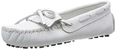 Minnetonka 迷你唐卡 女 凯蒂豆底摩卡 单鞋 594 白色 35.5 (US 5.5)