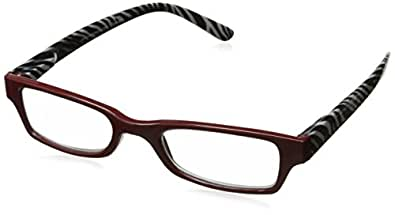 Peepers 中性成人 Pride Rock 531275 矩形老花镜,红色/斑马