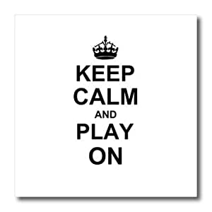 3dRose ht_157754_3 Keep Calm and Play on Carry on Gaming Hobby Or Pro Gamer Gifts Iron on Heat Transfer Paper for White Material, 10 by 10-Inch