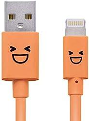 罗技公司 照明电缆 Lighting USB线 【支持Apple认证 iPhone&iPad】 带可爱脸部LHC-FUAL12CDR 闪电电缆 1.2m