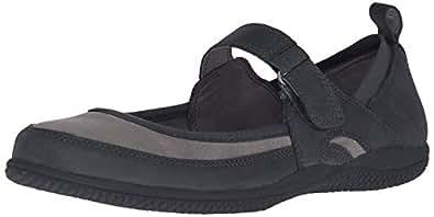 Softwalk 女士 Haddley Mary Jane 平底鞋 黑色/深灰色 10 M US