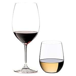 Riedel 礼铎 Vinum Pay 4 Get 4 系列 波尔多 4只+维欧尼 4只 机器制水晶玻璃高脚杯 套装8只装