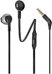 JBL T205 入耳式立体声有线黑色耳机(入耳式,有线,立体声,入耳式,20 – 20000 Hz,黑色)