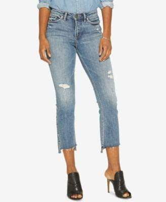 Silver Jeans Co. 女士 Mazy High Rise 短靴 靛蓝色(中度) 25x26