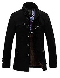 SEFON 男士冬季羊毛混纺经典款西装外套单排扣加厚修身夹克