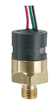 Gems PS41-10-4MNB-B-FLS18 系列 PS41 经济型微型压力开关,SPST N.C. Circuit,4-8 psi Range,0.64cm MNPT 黄铜配件,45.72cm 飞行铅带管(10 件装)
