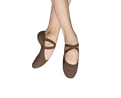 Bloch Dance 男式 Performa 弹性帆布分离式鞋底芭蕾鞋/拖鞋 Cocoa 286 7.5 C US