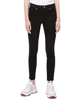 Calvin Klein 女式印 CKJ 001中腰超紧身牛仔裤 Eternal Black 28W x 30L