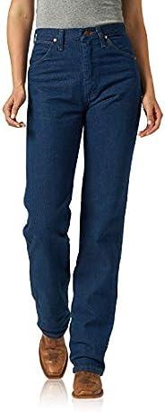 Wrangler 女式牛仔剪裁修身自然腰部牛仔裤  预洗 5X30