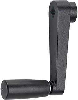 Halder 24330.0424 Handkurbeln/压铸锌黑色结构垫,L = 80 mm/s = 10 mm