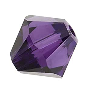 Adabele 奥地利双锥体水晶珠适用于施华洛世奇水晶 Preciosa 耳环手镯项链魅力珠宝工艺制作 紫色天鹅绒 8mm