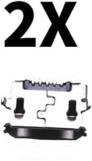2X Micro USB 充电端口连接器替换件 适用于 JBL FLIP 4 蓝牙扬声器