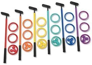 Cosom by Cramer Color 迷你高尔夫套装适合具有 6 个推杆的孩子,迷你推杆套装含 18 个高尔夫球,12 个靶子,儿童塑料高尔夫套装,体育教育课游戏,室内装饰,练习