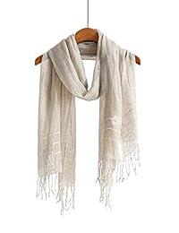 棉质围巾披肩柔软轻质围巾和男女围巾。