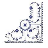 皇家哥本哈根蓝色凹边纸巾 16.5 cm