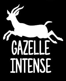 LLI Gazelle Intense  贴花乙烯基贴纸  汽车卡车货车墙壁 笔记本电脑 白色  5.5 x 4.8 英寸  LLI1355