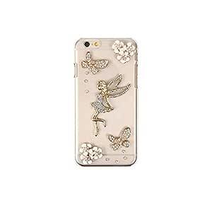 智能手机壳 透明 3D 装饰 套 透明壳 硬质 装饰 定制 壳wn-0060890-wy Nexus6 Shamu Fairy