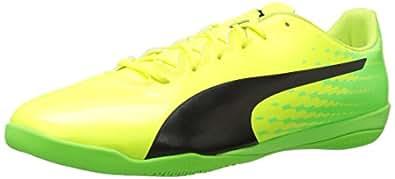 PUMA 男士 Evospeed 17.4 IT 足球鞋 Safety Yellow-puma 黑绿色壁虎色 12 M US