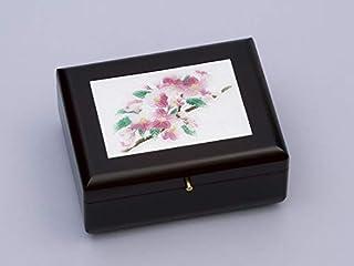 彩光舍 摆件 - 14.5×18.5×7.5cm 彩光舍 七宝烧 宝石盒(小)(带八音盒) 樱花 121-18