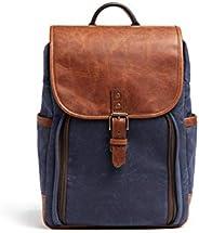 ONA - The Monterey - 相机背包 - *蓝蜡帆布和古董 Cognac 皮革 (ONA5-082NVYLBR)