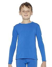 Rocky 男孩羊毛内衬保暖长袖圆领内衣打底 T 恤