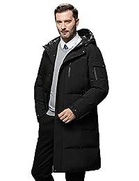 美国苹果 AEMAPE 冬季男士羽绒服 中长款大衣 加厚保暖外套 羽绒服 男 休闲羽绒外套 白鸭绒纯色外衣 9804