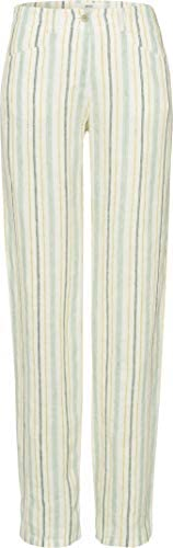BRAX 女式 Farina 亞麻條紋長褲