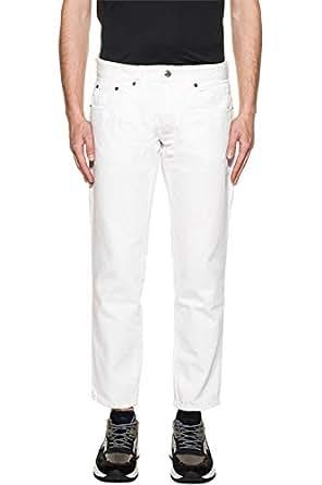TAKUTEA 男人 KARAREHE 白色 棉 牛仔裤/意大利直邮【亚马逊海外卖家】