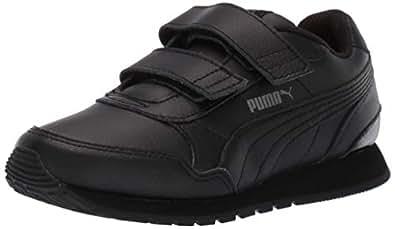 PUMA 儿童 St Runner V2 魔术贴运动鞋 Puma 黑色眼影 2 Little Kid