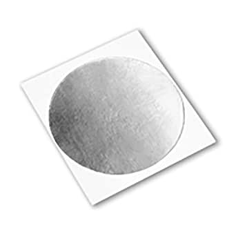 "3M 3380 Circle-0.563""-1000 银色铝箔胶带,-30 至 260 华氏度,0.0033 英寸厚,0.563""长,0.563""宽(1000 件装)"