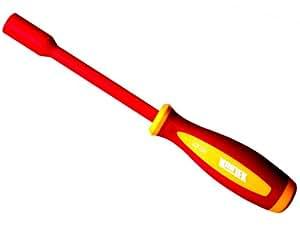 Kunjek 昆杰 双色柄绝缘带孔螺帽螺丝批 831-908