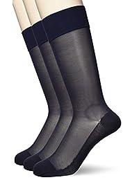 ATSUGI 袜子【日本制】 修身线条 男士 透棉混纺 船袜 〈3双装〉