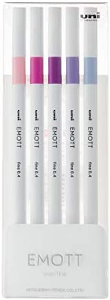 三菱铅笔 水性笔 EMOTT 5色 NO.7 PEMSY5C.NO7